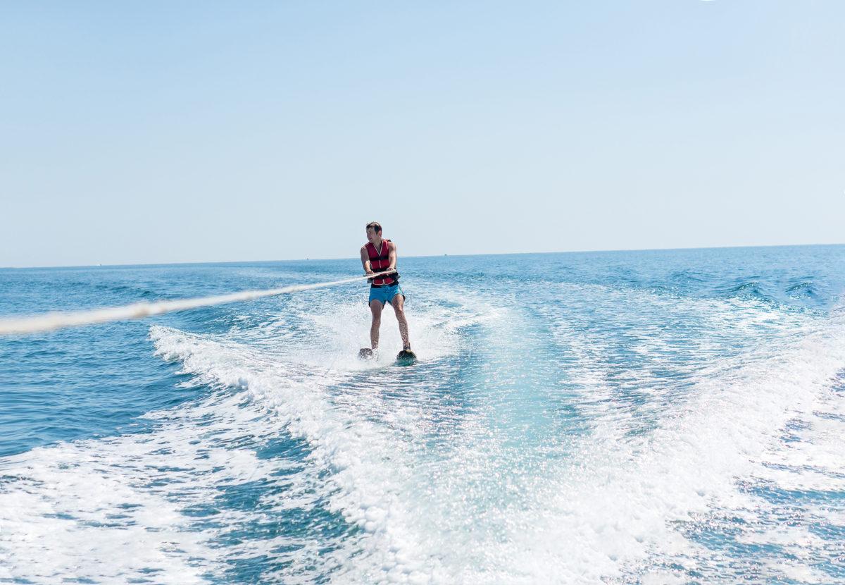 Water skiing in Croatia