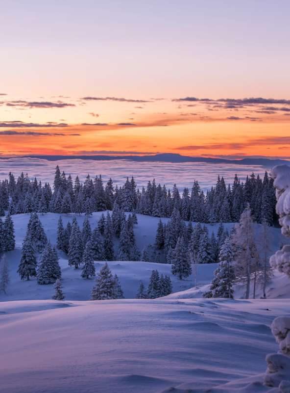 Winter landscape, Slovenia