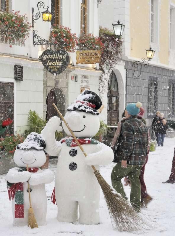 Radovljica, winter in Slovenia