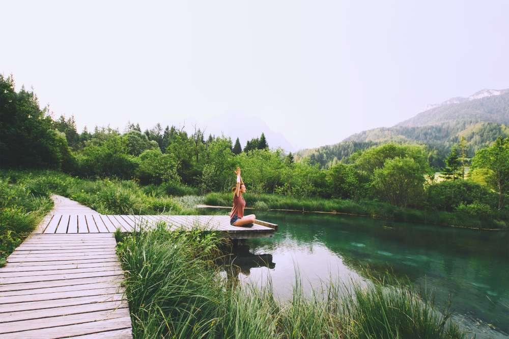 Yoga in nature, Slovenia