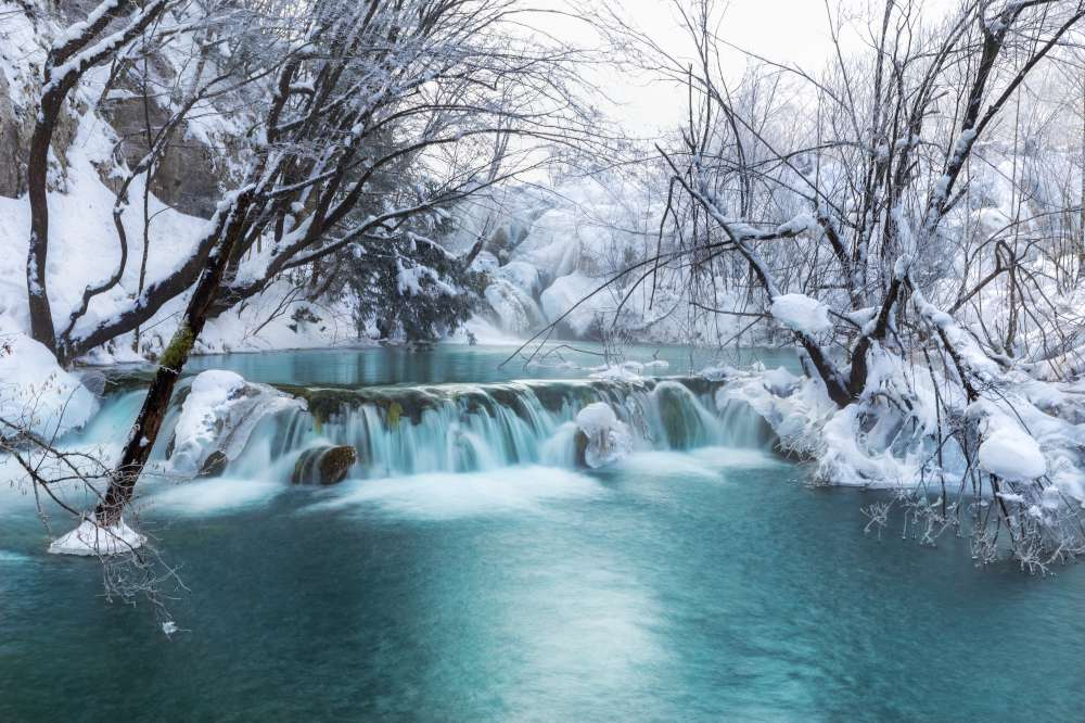 Plitvice lakes in December