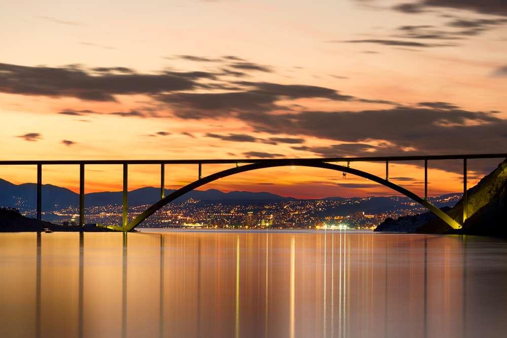 Kvarner Bay Croatia - bridge to the island of Krk