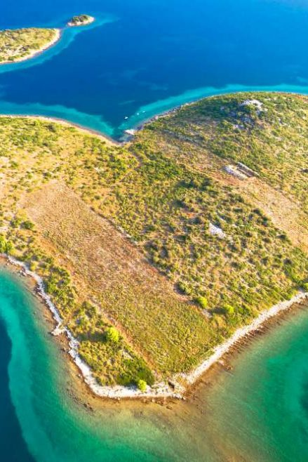The heart shaped island in Croatia