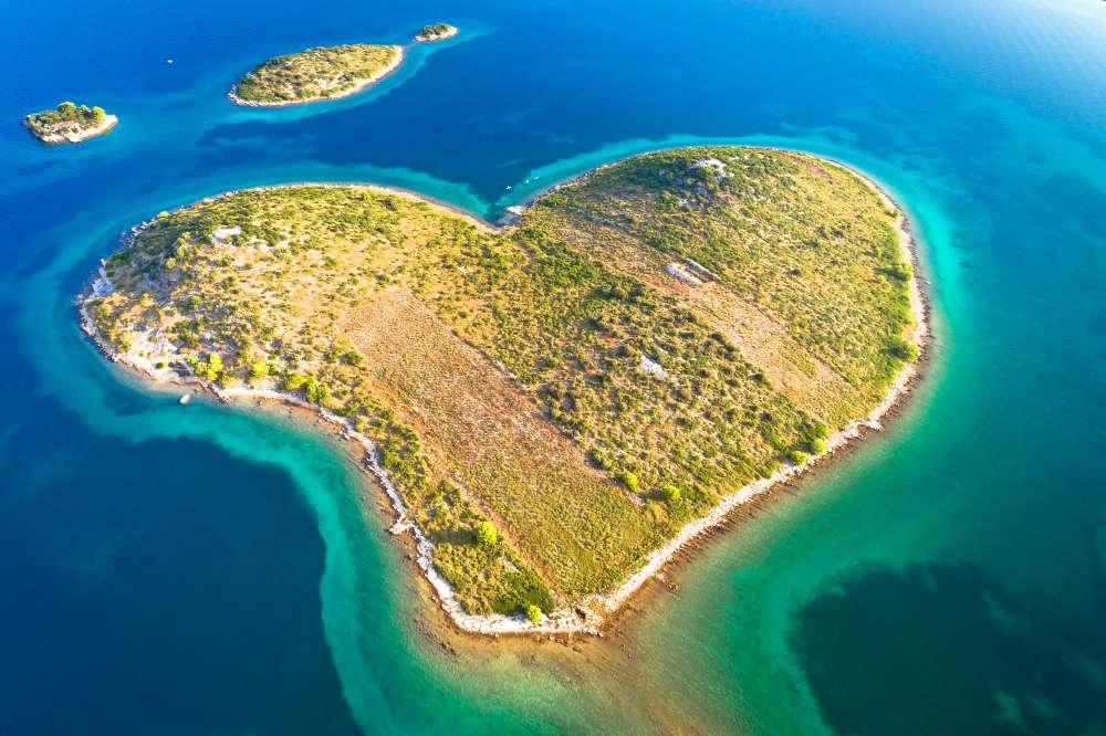 The heart shaped island in Croatia