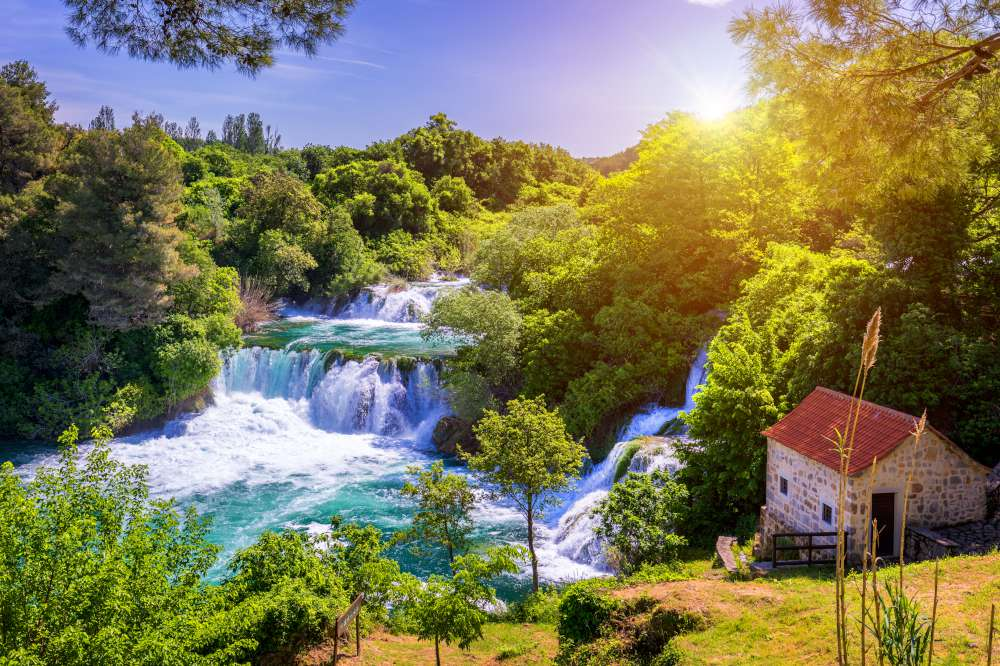 The heart shaped island in Croatia - National Park Krka